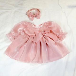 váy công chúa chất tơ lụa bé gái