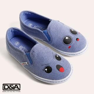 D&A giầy slipon bé gái BG1704 xanh thumbnail