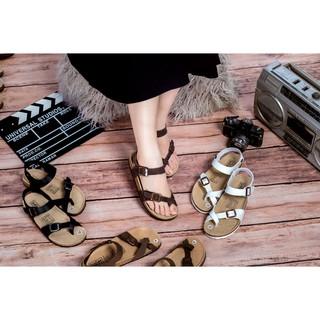 Giày sandal quai hậu da bò unisex xuất khẩu châu âu Mã D14