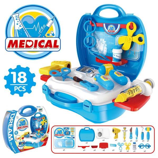 [THANH LÝ GIÁ SỐC] – Bộ đồ chơi bác sĩ Medical cho bé