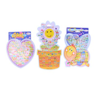 $VN Kid Crystal Stick Earring Sticker Toy Body Bag Party Jewellery Christmas Gift
