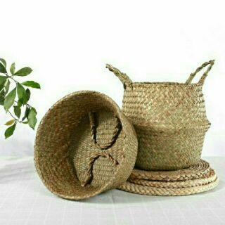 Giỏ Cói Giỏ mây tre đan dùng đựng đồ Trồng cây cảnh