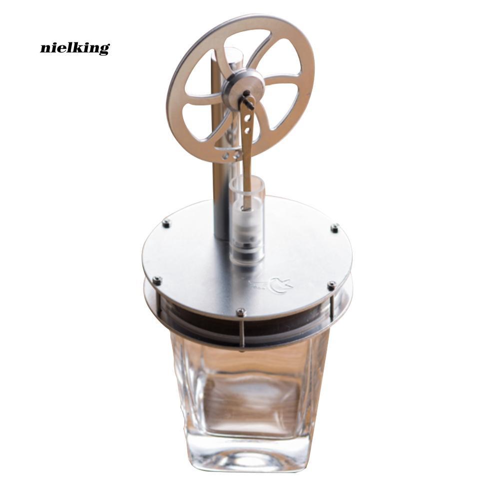 Nlkg♥Low Temperature Metal Stirling Engine Model Steam Motor Kids Educational Toy