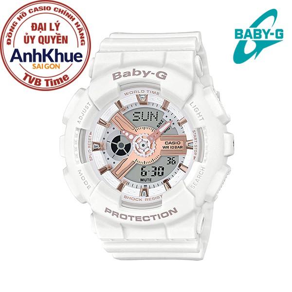 Đồng hồ nữ dây nhựa Casio Baby-G chính hãng Anh Khuê BA-110RG-7ADR