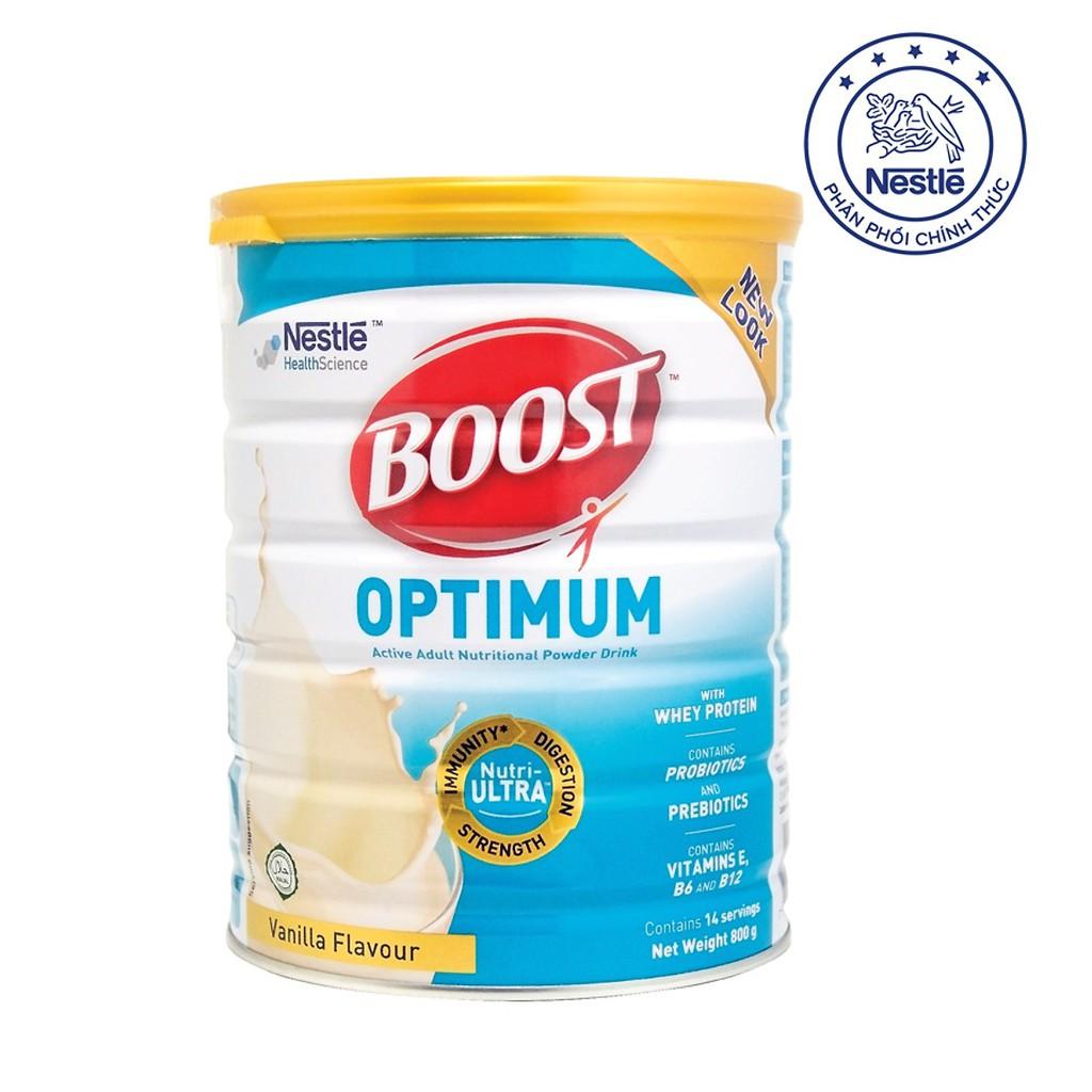 Sữa BOOST Optimum 800g Nestle Thụy sĩ (tiêu hóa, hấp thu tốt)