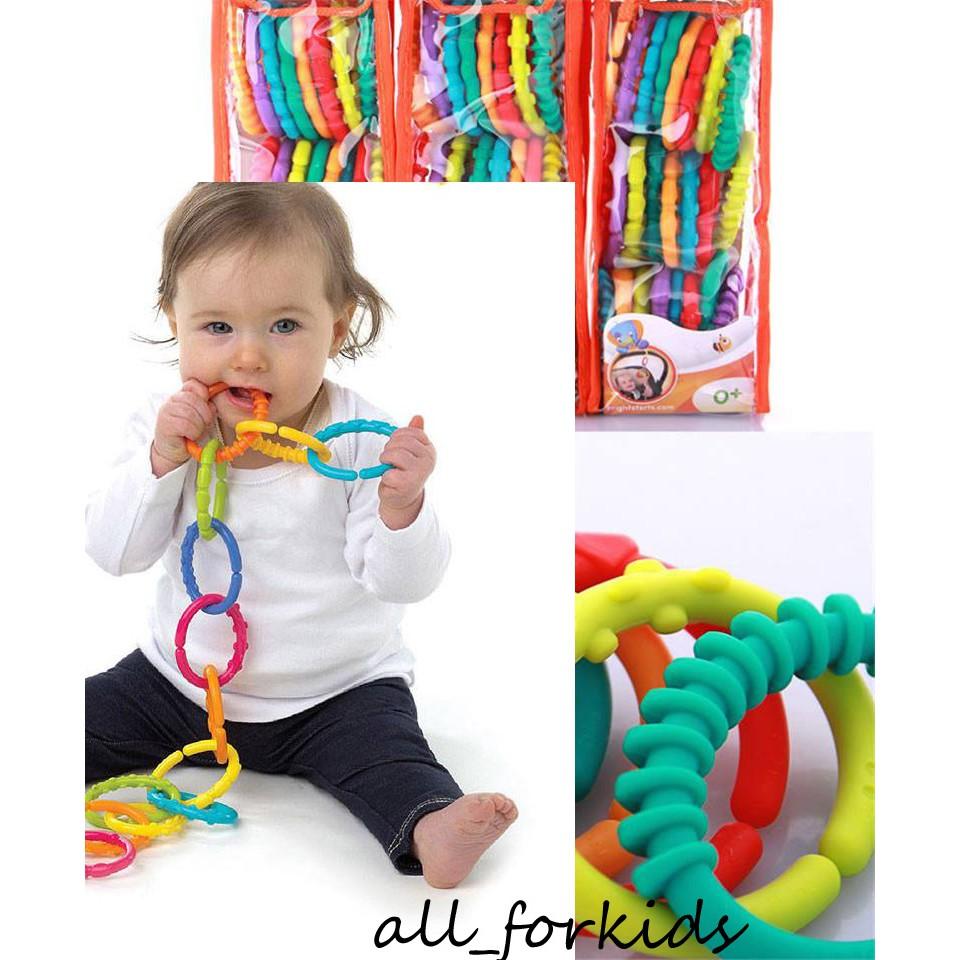 Set 24 vòng gặm treo nối lots of links xuất khẩu Mỹ đồ chơi cho bé