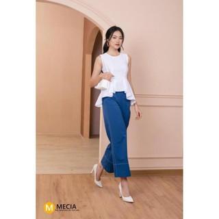 Áo nữ thiết kế MECIA SM464– Áo 2 dây bản to cổ tròn, dáng ôm thắt eo chất liệu mềm mịn, áo kiểu phong cách hàn quốc