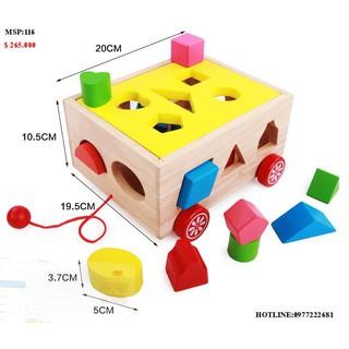 Trò chơi gỗ Xe cũi thả hình