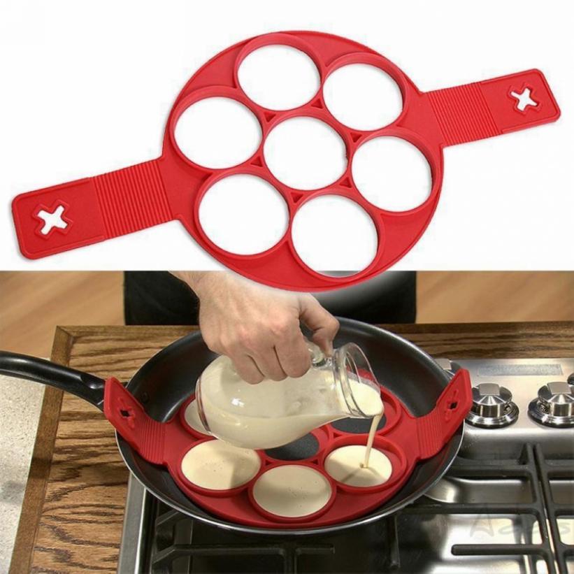 addis Hot Non Stick Flippin' Fantastic Nonstick Maker Pancake Eggs Ring Maker Kitchen