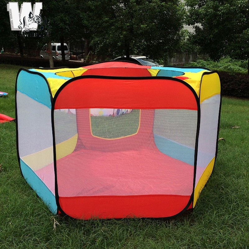 WILL Play House Indoor and Outdoor Easy Folding Ocean Ball Pool Pit Game Tent