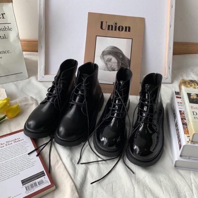 Giày ulzzang boots cổ cao đơn giản ảnh thật cuối