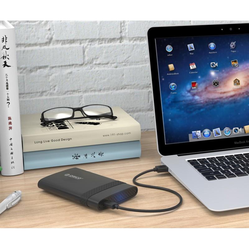 """Hdd box Orico dành cho ổ SSD & HDD 2.5"""" 2538U3- Hàng Phân Phối Chính Hãng"""