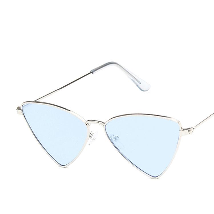 ★ Triangle Metal Cat Eye Sunglasses Retro Fashion Wild Ocean Sunglasses ♥