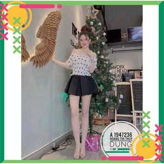 🌸 12C25B1 Chân váy ngắn xếp ly bản to khoe chân xinh mông tròn, freesize vòng eo M L, dưới 53kg 🌸