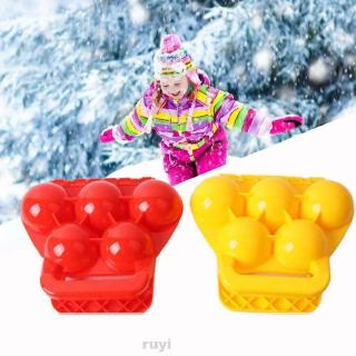 Friends Durable Manual Parent-child Tools Compact Winter Activities Outdoor Sport Random Color Snowball Clip