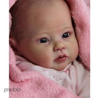 20″ Unpainted Reborn Kits Baby Doll Soft Silicone Head 3/4 Arms Full Legs #5