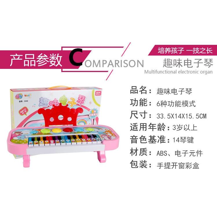 Đàn Piano Đồ Chơi Đa Năng Cho Bé Gái