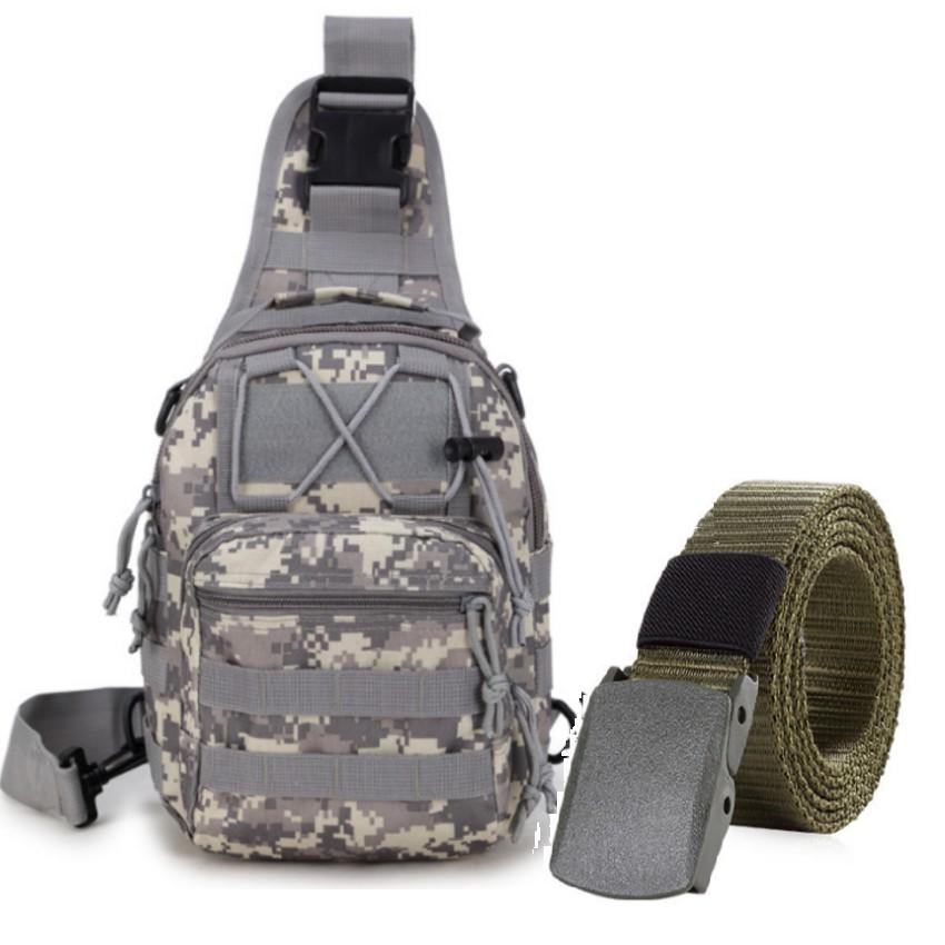 Thắt lưng dù chiến thuật và túi đeo ngực thời trang phong cách Quân đội Mỹ tặng 01 bút bi cao cấp TL