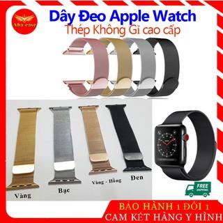 [Loại 1] Dây Đeo Apple Watch Thép Không Gỉ - Khóa Nam Châm thay thế AW Series 5/4/3/2/1 Milanese Loop thời trang cao cấp