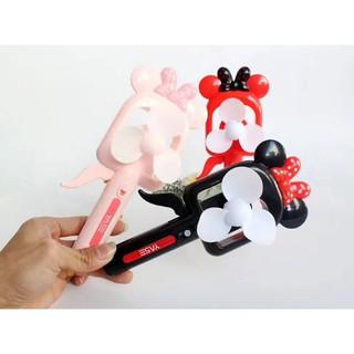 QB5 Quạt mickey quạt minie quạt bóp quạt cầm tay quạt mini quạt phun sương