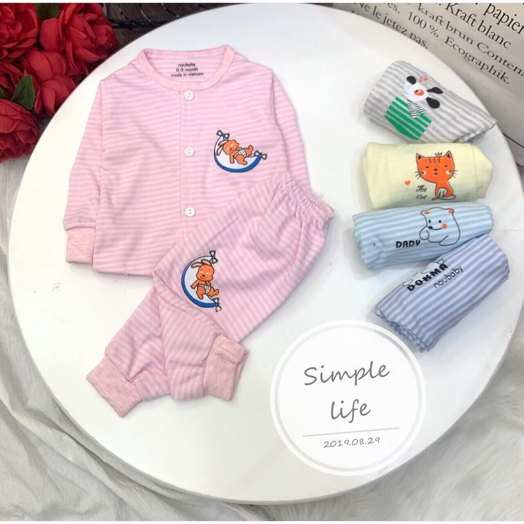 Bộ quần áo thu đông nou_baby cho bé từ 0 đến 15 tháng - Mẫu trơn 1 đổi 1 trong 1 tháng