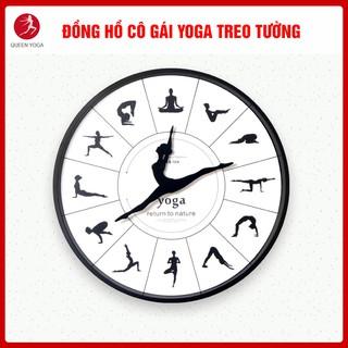 Đồng Hồ Cô Gái Yoga Treo Tường Cao Cấp Tuyệt Đẹp TEN&TEN