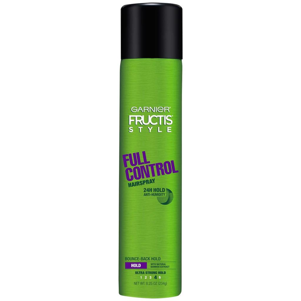 Bình keo xịt tạo hình tóc Garnier Fructis Style Full Control Anti-Humidity  Hairspray Ultra Strong Hold 234g (Mỹ)   Shopee Việt Nam