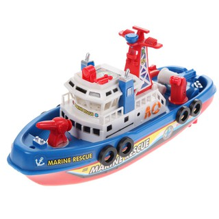 [FANC]Fire Boat Electric Boat Children Electric Toy Navigation Non-remote Warship