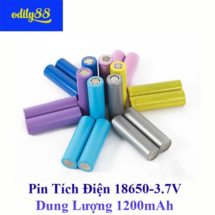 Pin tích điện 18650 3.7v 1200mAh - Pin Li-ion 18650 3.7v 1200mAh