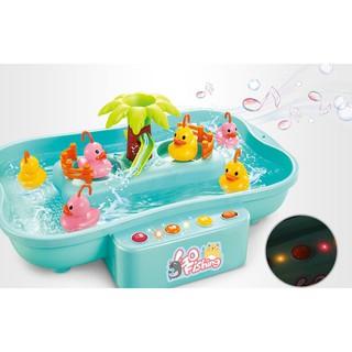 Bộ đồ chơi câu vịt, câu cá cao cấp có nhạc cho bé