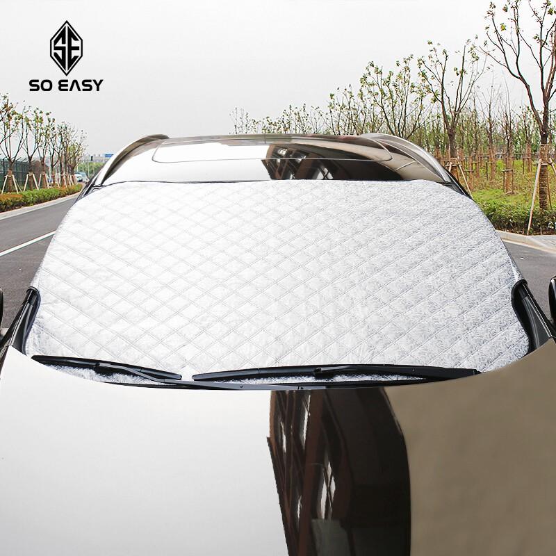 Tấm che chống nắng phản quang cách nhiệt tuyệt đối cho kính trước ôtô, xe hơi, xe tải gấp gọn cỡ lớn 200x95cm _
