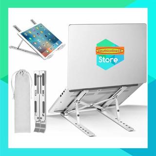 Giá đỡ Laptop MacBook Ipad bằng nhôm có thể điều chỉnh độ cao, gập gọn thông minh