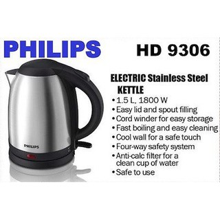 Bình đun siêu tốc Philips 1.5 lít HD9306 - Hàng chính hãng