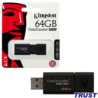 [Mã ELFLASH5 giảm 20K đơn 50K] USB 3.0 64GB Kingston DataTraveler 100 -Bảo Hành 5 Năm- Hàng Chính Hãng
