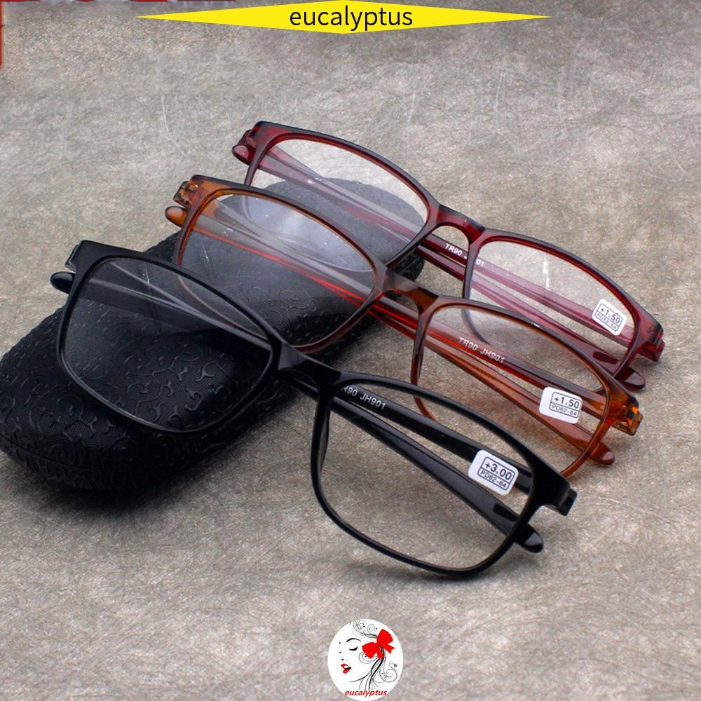 🌱EUPUS🍀 TR90 Reader Eyewear Fashion Clear Lens Presbyopic Glasses Flexible Ultralight Women Men Retro Reading Glasses/Multicolor
