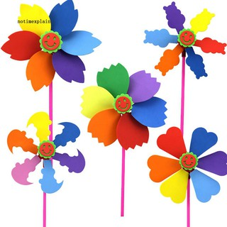 NAME DIY Multicolor Manual EVA Kids Children Windmill Pinwheel Wind Spinner Toys