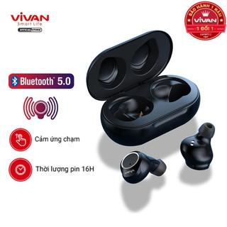 Tai Nghe Không Dây True Wireless VIVAN LIBERTY T100 Bluetooth 5.0 Cảm Ứng - Âm Thanh Sắc Nét - BẢO HÀNH 1 ĐỔI 1