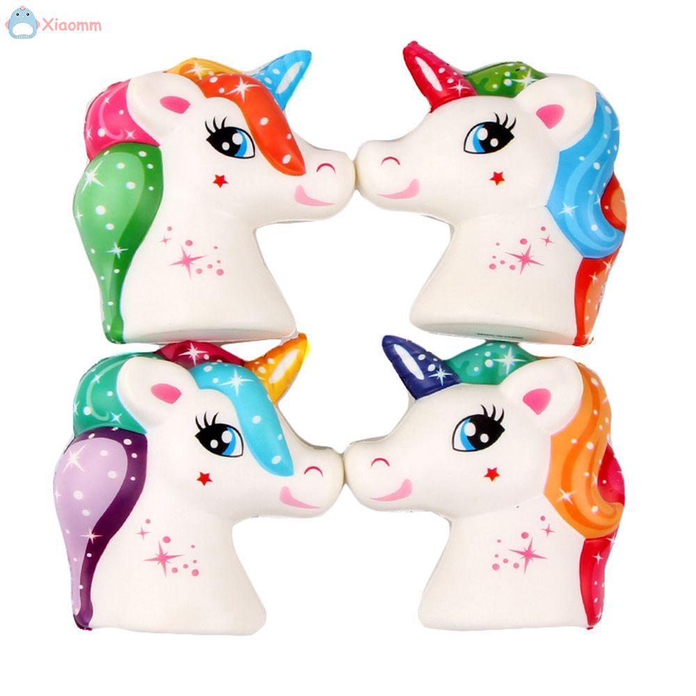 Kawaii Squishy 11CM Jumbo Cute Unicorn Horse Soft Squeeze Scented Decor Toy .mm