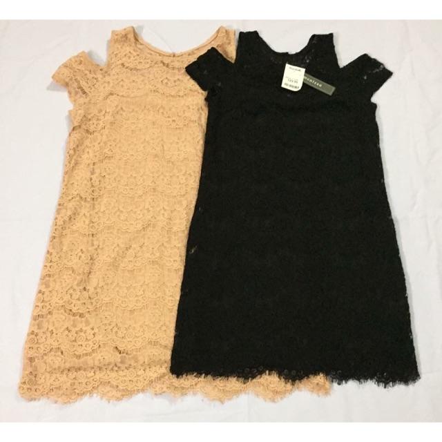 Váy ren rớt vai Monteau xuất xịn Authentic