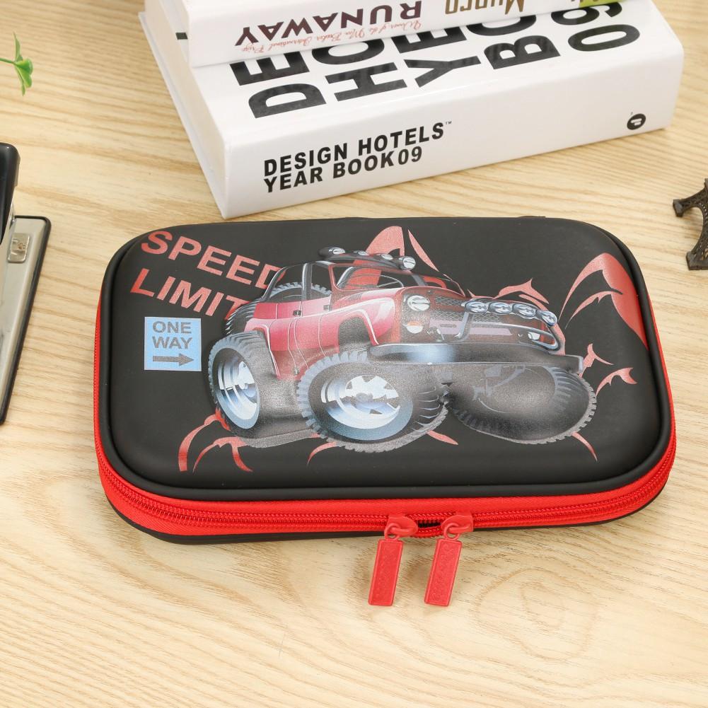Pencil Case JK Home&Living Cartoon Car Large Capacity Pencil Bags Students School EVA Pencil Case