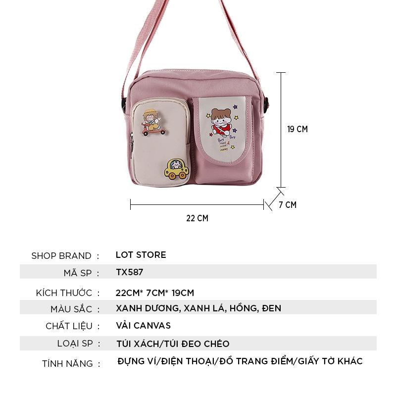 Túi xách nữ đẹp đeo chéo thời trang cao cấp giá rẻ LOT STORE TX587