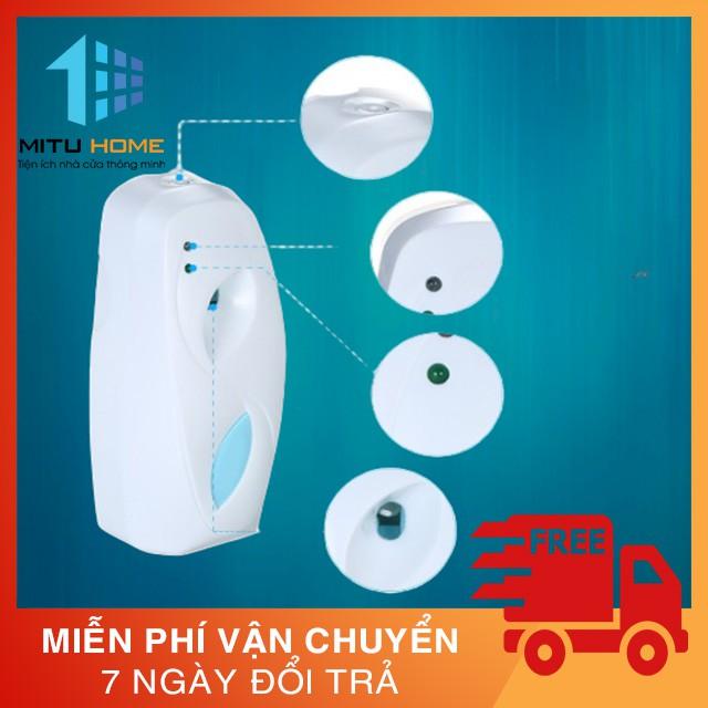 [ Xịt phòng tự động] Máy xịt thơm phòng Mituhome -MT007 tặng kèm chai xịt - Giúp khử mùi phòng, nhà vệ sinh