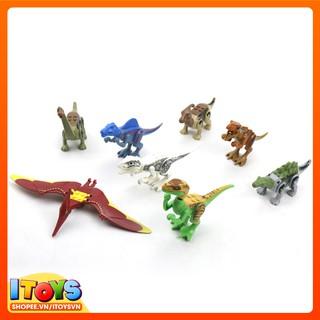 Gói đồ chơi 8 khủng long lắp ráp, đồ chơi giáo dục cho trẻ em
