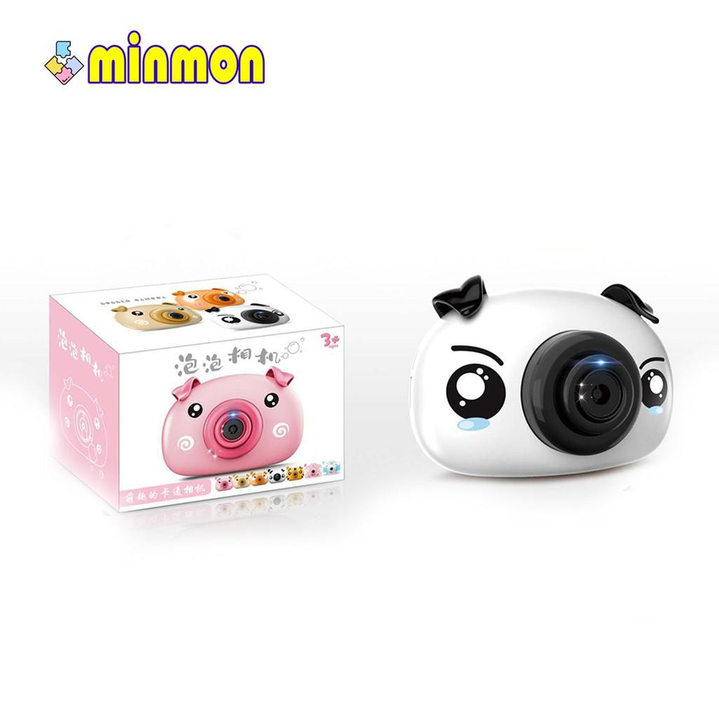 Máy ảnh bắn bong bóng MINMON có đèn và nhạc cho bé - CY-0703