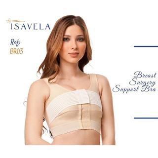 Áo ngực định hình ngực sau phẫu thuật, có đai cố định ngực liền áo BR03