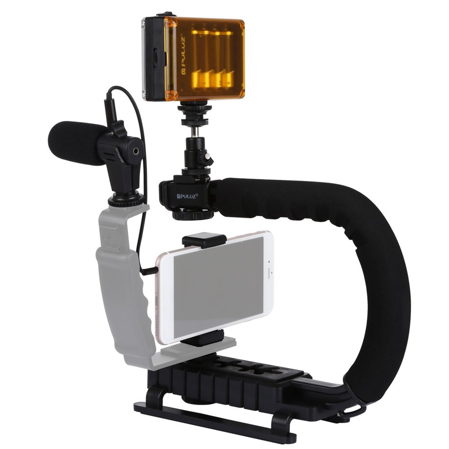 PULUZ U/C Shape DV Bracket Stabilizer LED Studio Light Microphone Tripod Head