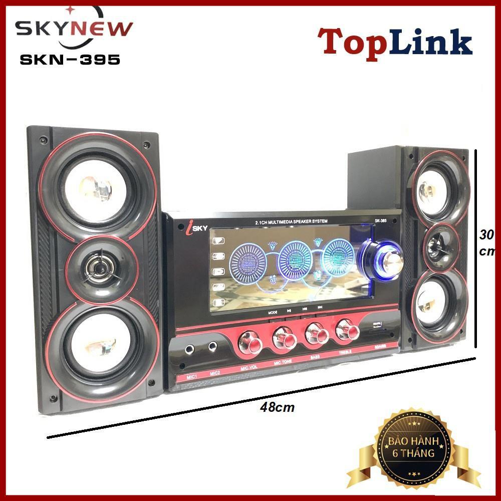 Dàn Âm Thanh Tại Nhà - Loa Vi Tính Hát Karaoke Có Kết Nối Bluetooth USB SKYNEW - SKN395 - Phân Phối Bởi TopLink