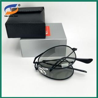 Mắt kính nam đổi màu gấp gọn dùng ngày và đêm RBG, phân cực chống tia UV – Full box hộp đựng kính và khăn lau