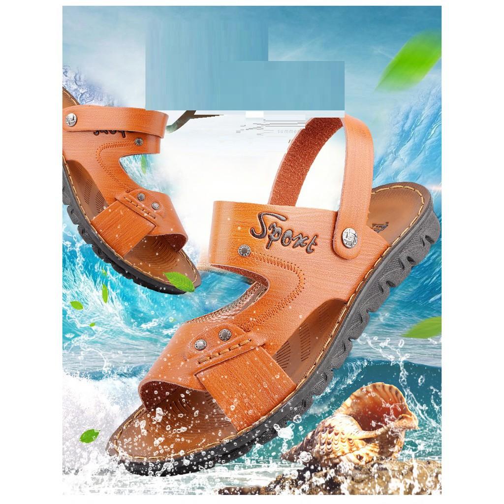 Giày sandal da nam thời trang mùa hè