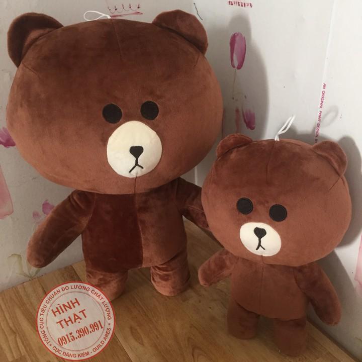 Gấu bông Brown - Combo 2 gấu Brown 35cm - 50cm
